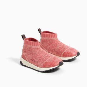 Zara toddler sock style high tops